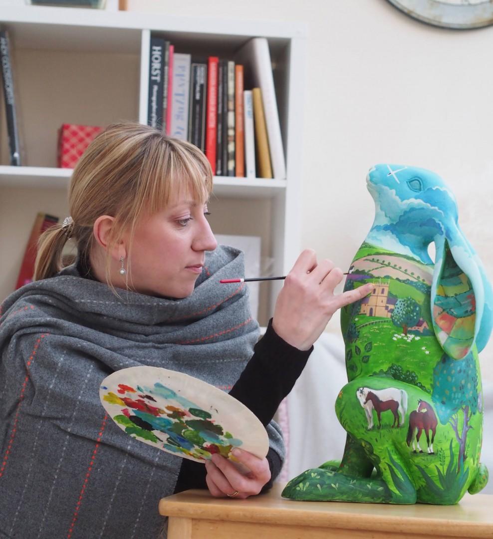 Nadia Ryzhakova White Horse Hare