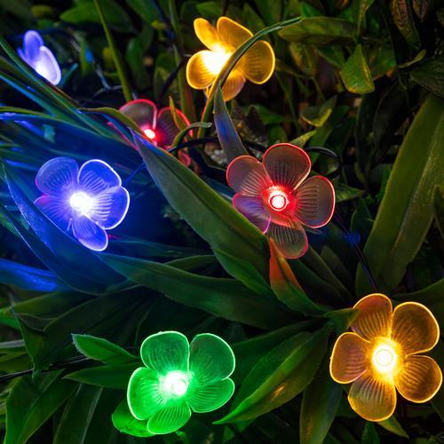 Lights4fun Multi Coloured Solar Flower Lights