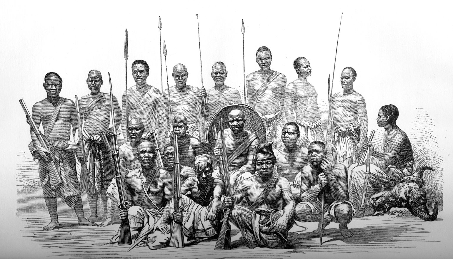 Some of the African porters who accompanied Burton and Speke on their historic expedition to find the source of the Nile