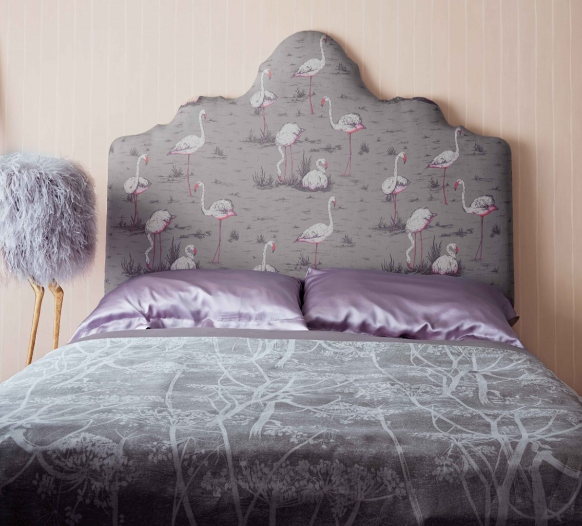 Cole and Sons Icon fabric flamingoes cow parsley