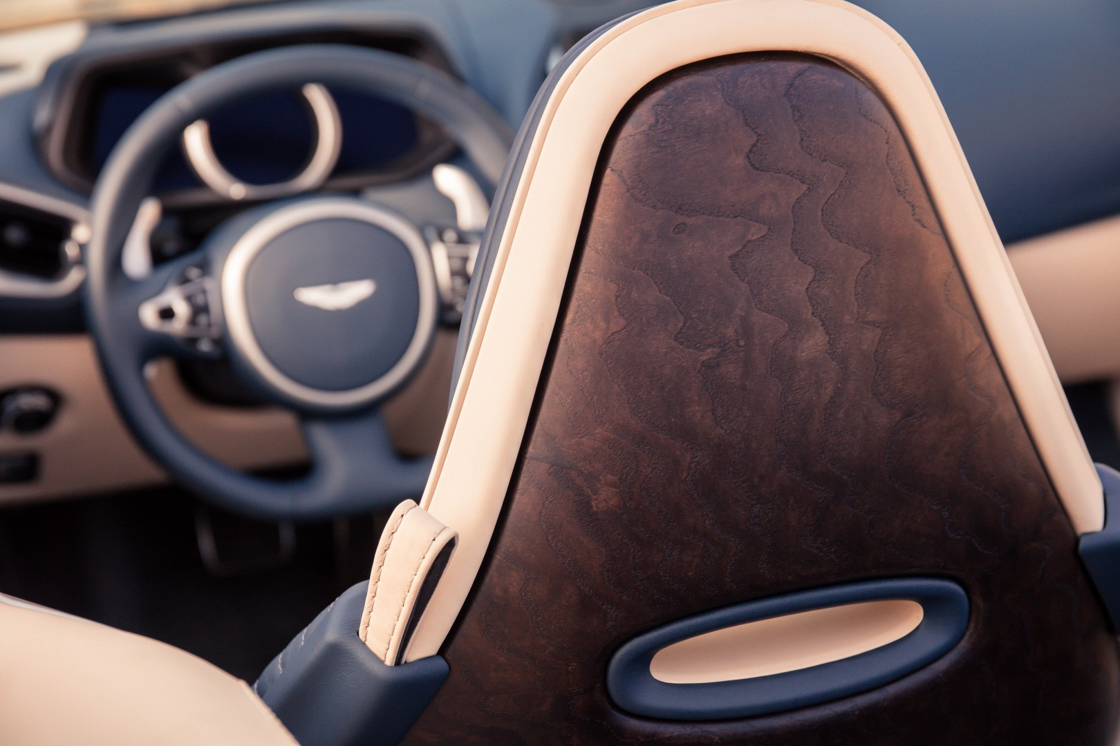Aston Martin DB11 Volante Interior from rear seat