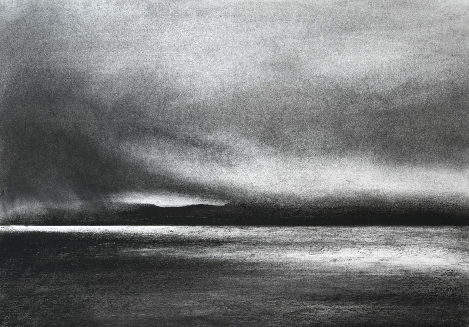 Claire Christie Sadler A Sense of Silence Distant dark cliffs