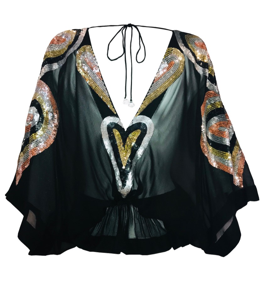 HUMMINGBIRD Silk Top Lindsey Brown
