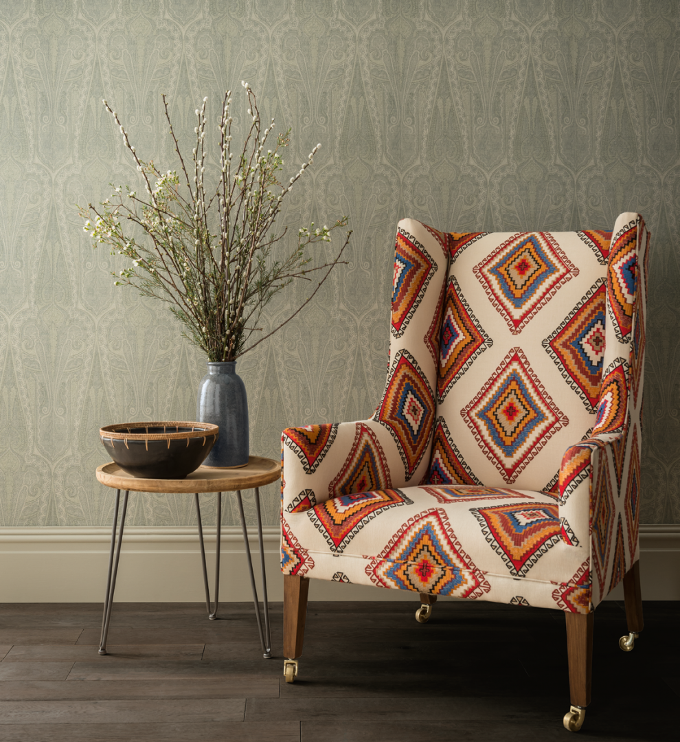 Create a Spice Sensation Mulberry Home Tribal Chair