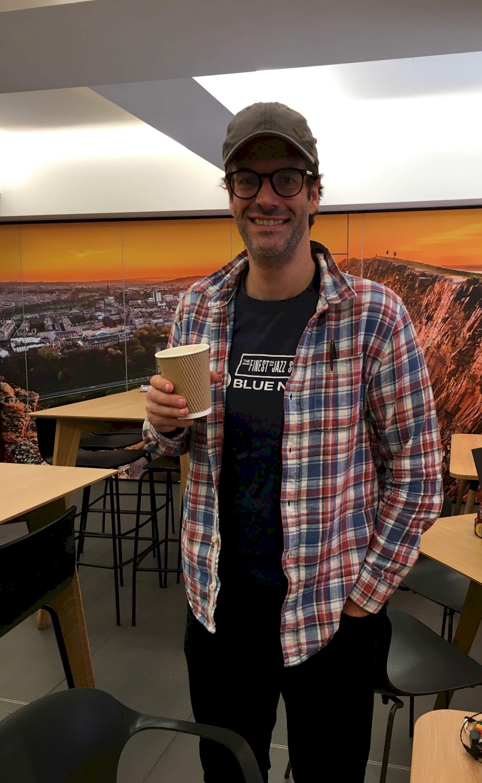 Marcus Brigstocke coffee