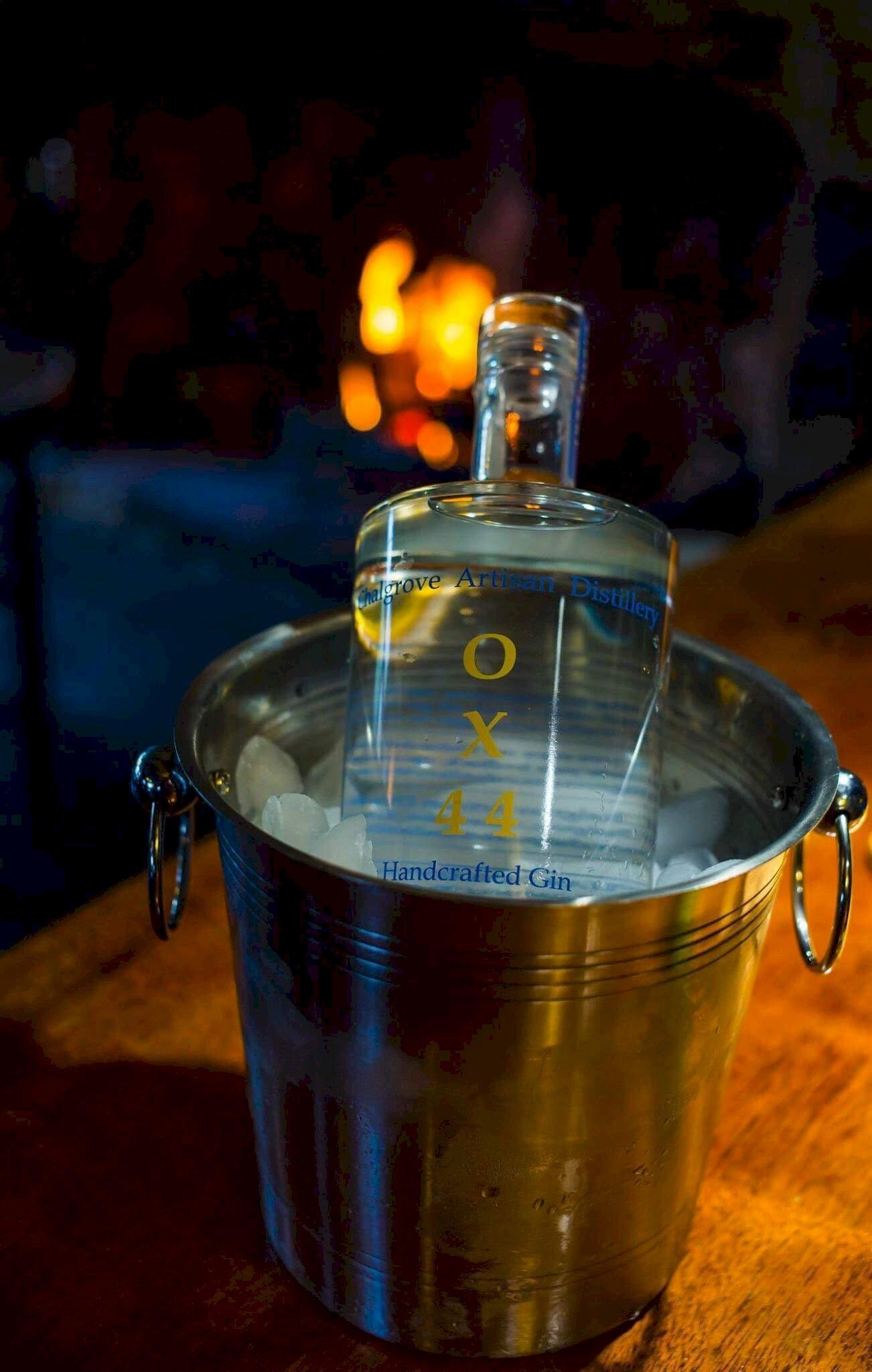 Mother's Ruin Chalgrove Artisan Distillery bottle in bucket