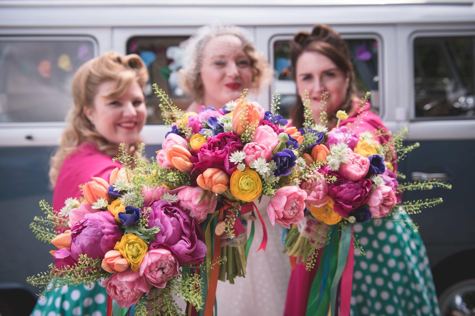 Real Wedding Chris Rachel bridesmaids
