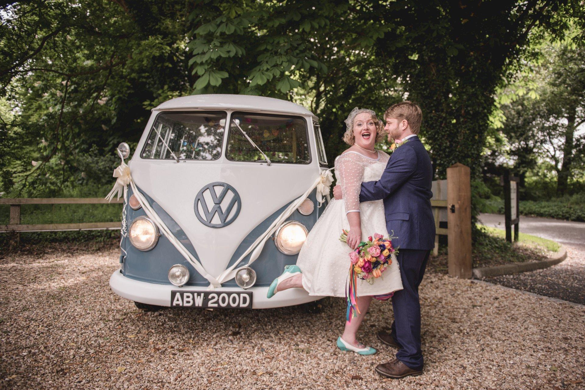 Real Wedding Chris Rachel VW Camper