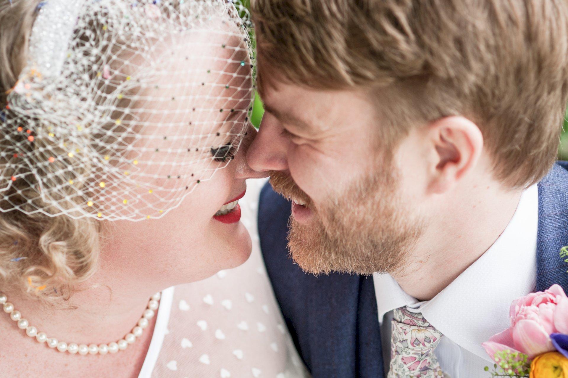 Real Wedding Chris Rachel Kiss