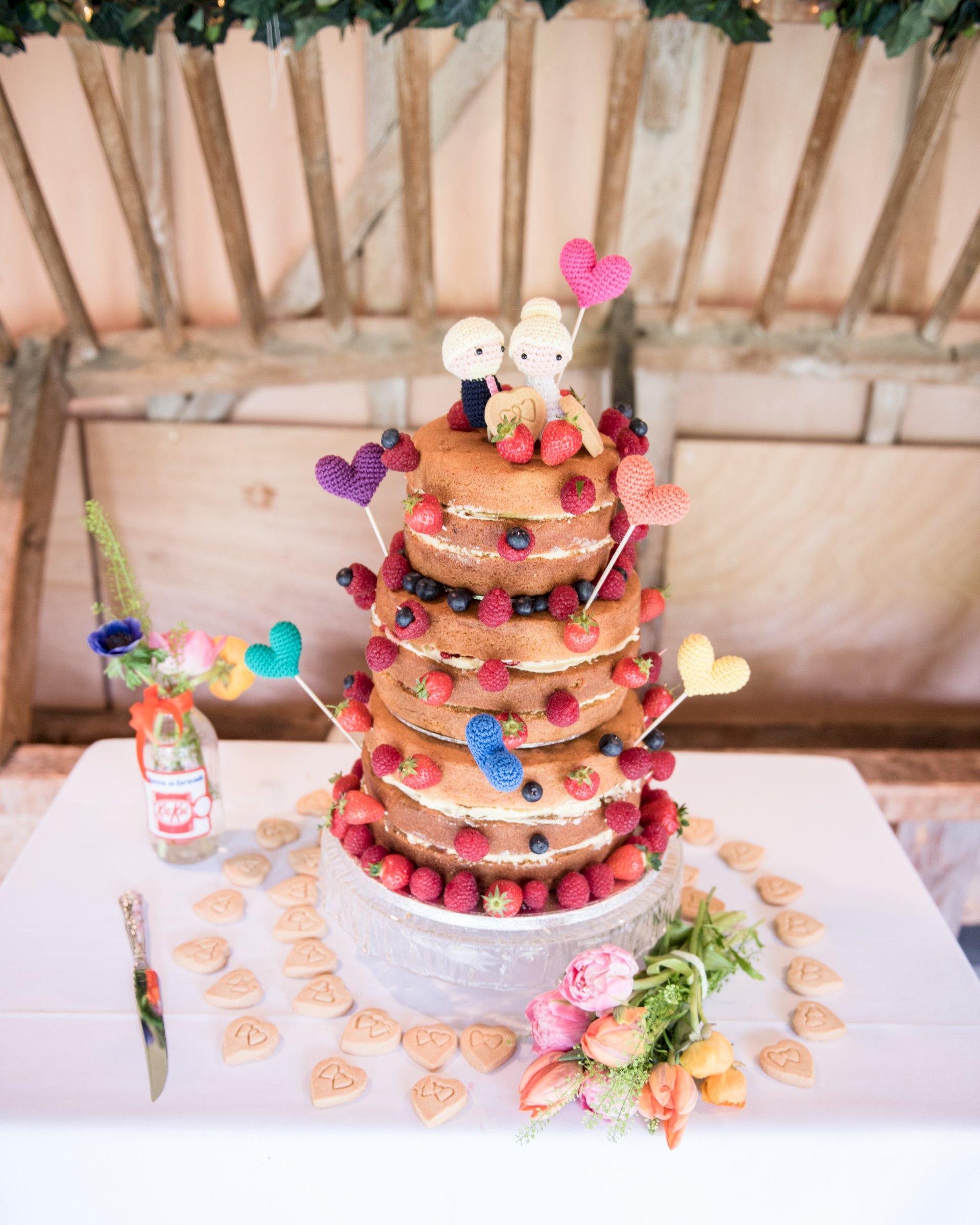 Real Wedding Chris Rachel wedding cake