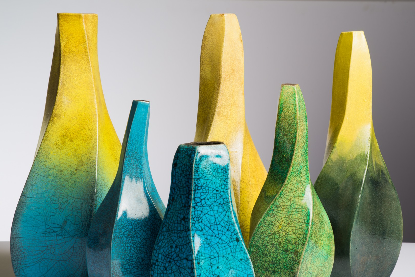 Shaping the Earth Ian Fraser Blue Yellow Green Pottery