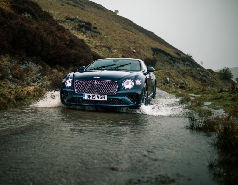 Run Out of Fathers Day Gift Ideas Bentley Driving Through Water