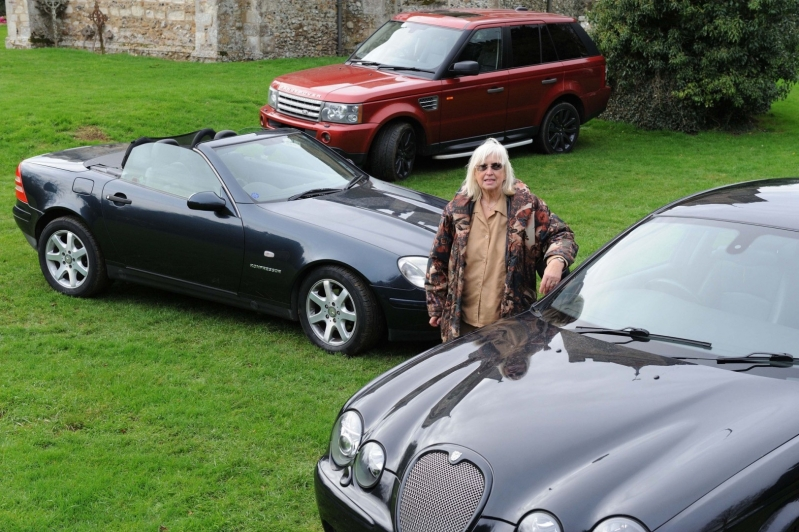 Women Behind the Wheel Beryl with her Jaguar Mercedes and Range Rover