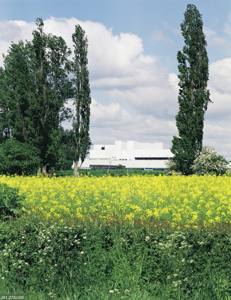 UK Atomic Energy Authority JET building rape seed field