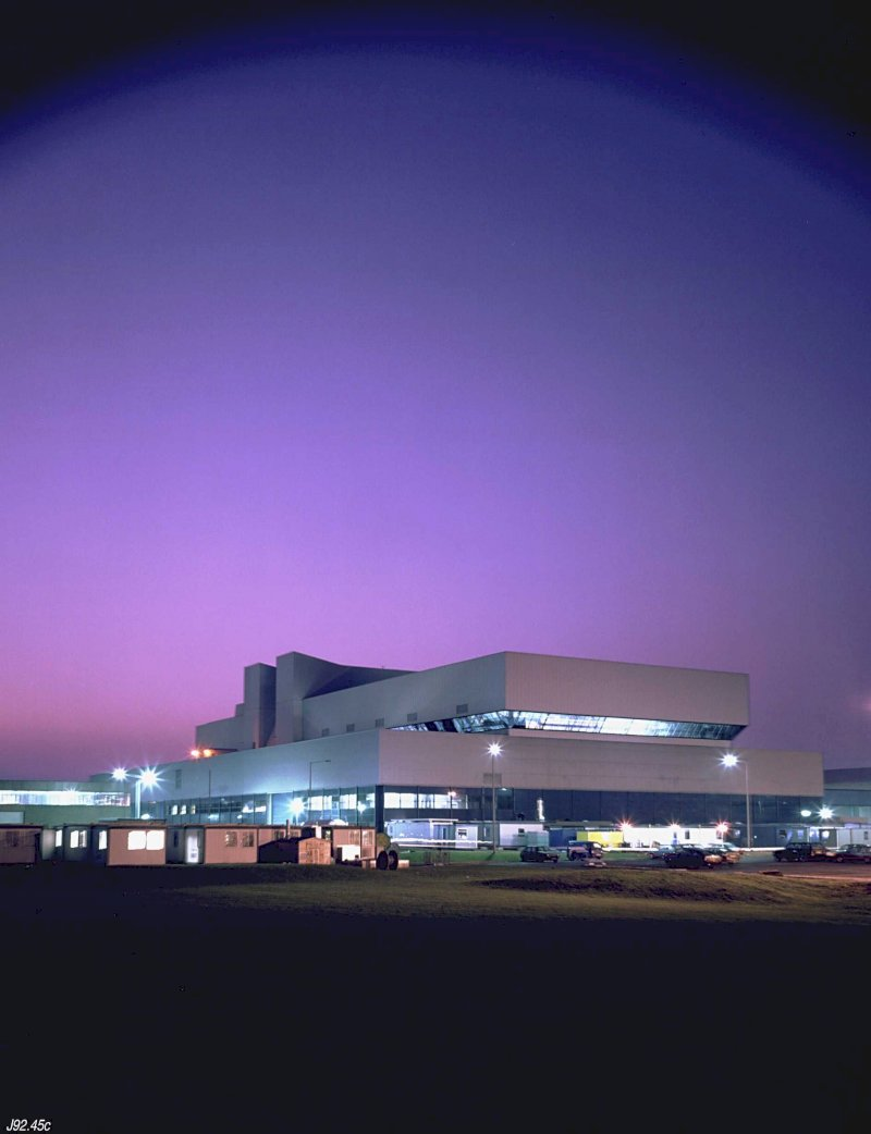 UK Atomic Energy Authority JET exterior night