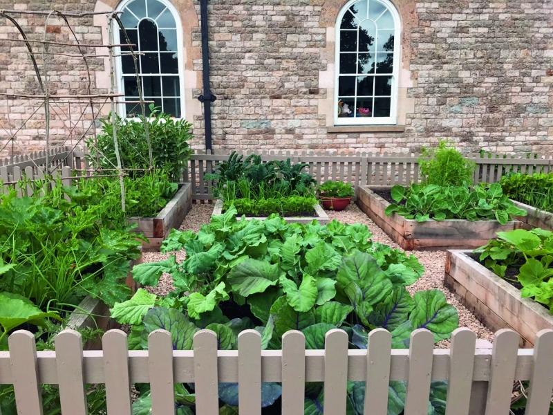 Landscaping a Natural Mind Spa Raised Beds Kitchen Garden