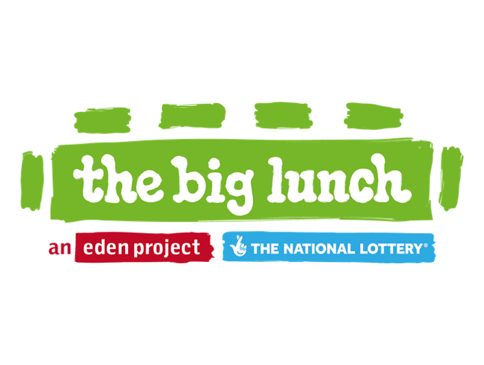 Big Lunch Community Walk Eden Project and National Lottery Logos