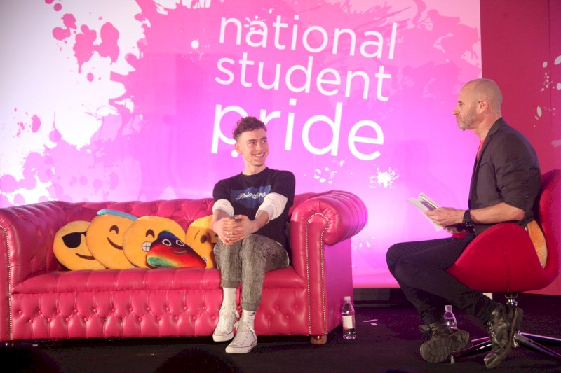 Evan Davis Deep Rooted Optimism Interviewing Olly Alexander at Student Pride
