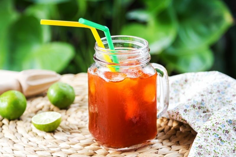 Ice Tea with Lime Mocktail