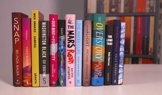 2018 Man Booker longlist shelf