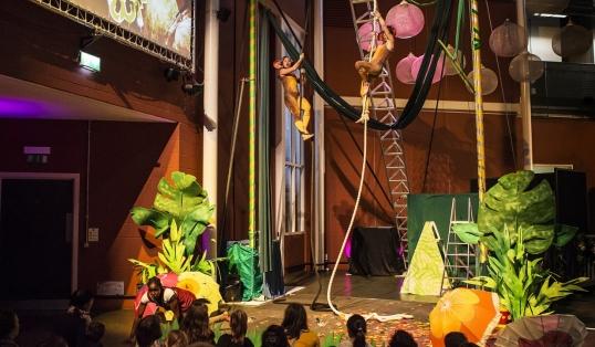 Audience of Children watching Tarzanna