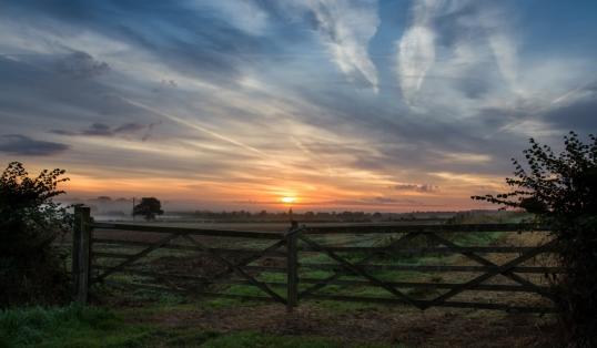 Optimism Sunrise over Oxfordshire