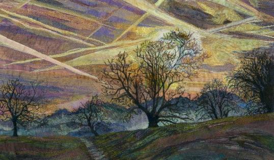 Rachel Wright sky trails original