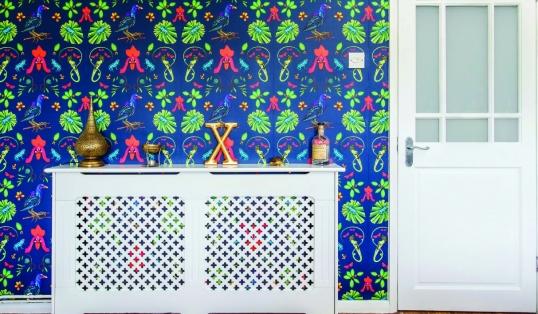 Handmade Oxford Wilful Ink Gallinule Wallpaper