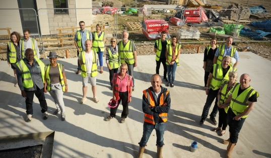 Grand Designs Graven Hill Self Builders Group Shot