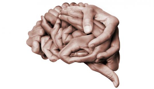 The Big Bang Brain Made Out Of Human Hands Mental Health Awareness Week