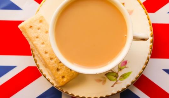 Patriotic Cup of Tea and Short Bread British