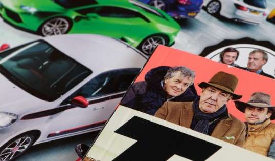 Jeremy Clarkson Top Gear Magazines on Surface Top