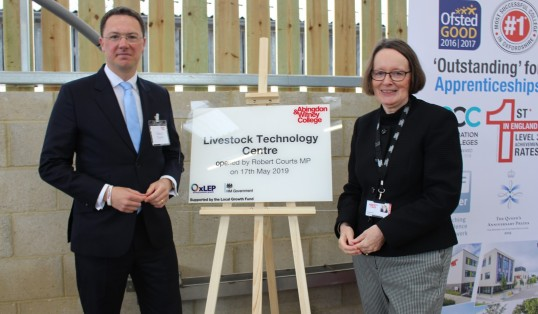 Livestock Technology Centre Opening plaque