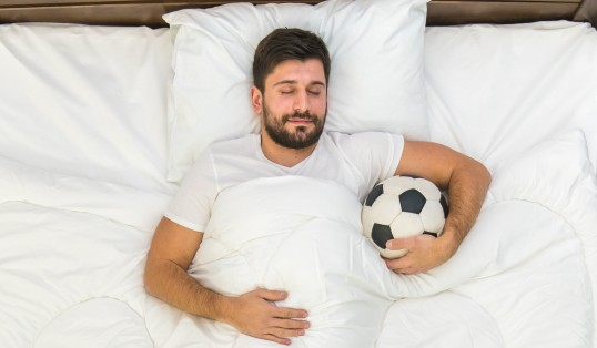 Red Card For Romance Man In Bed With Football