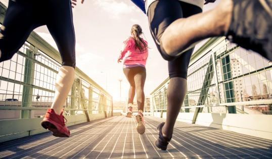 Core Values Men and Woman Running Mental Health Awareness Week