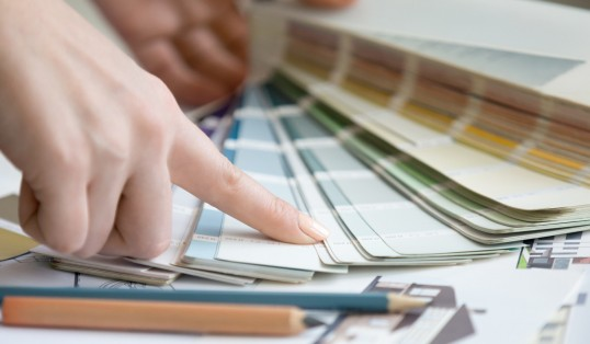 House Doctor Woman Pointing Colour Samples