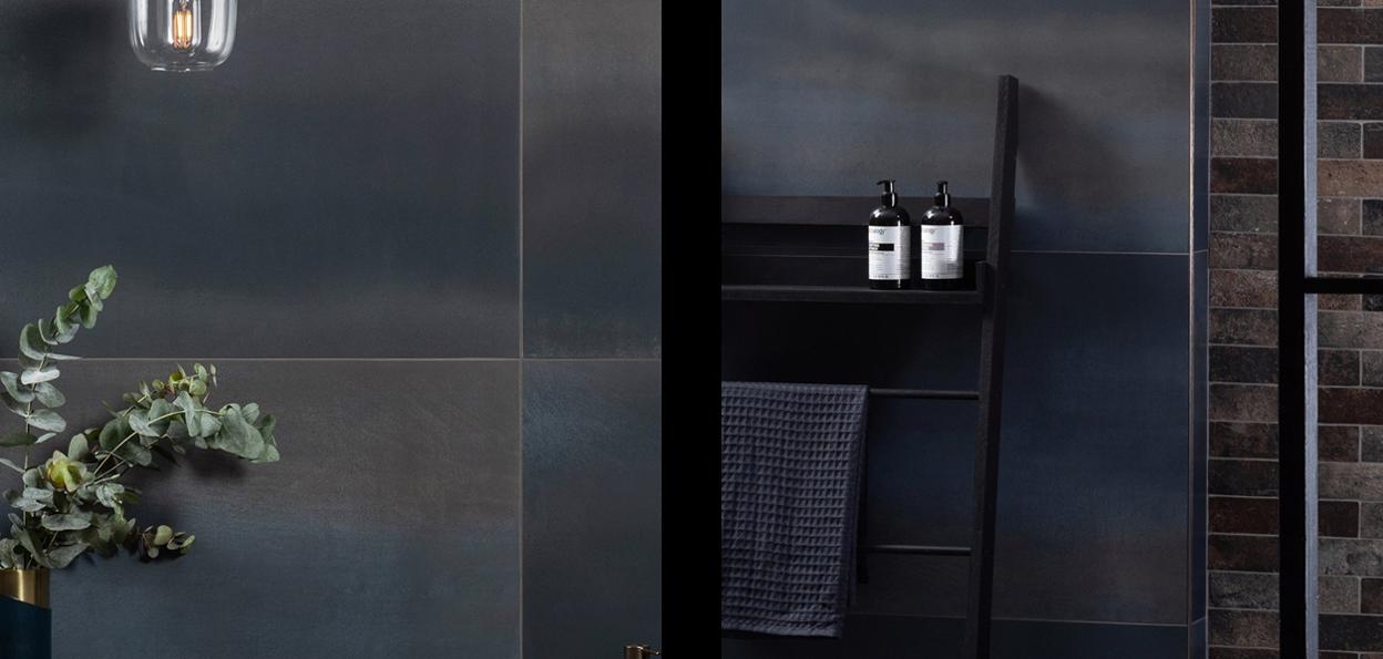 Midnight Blue Bathroom Tiles