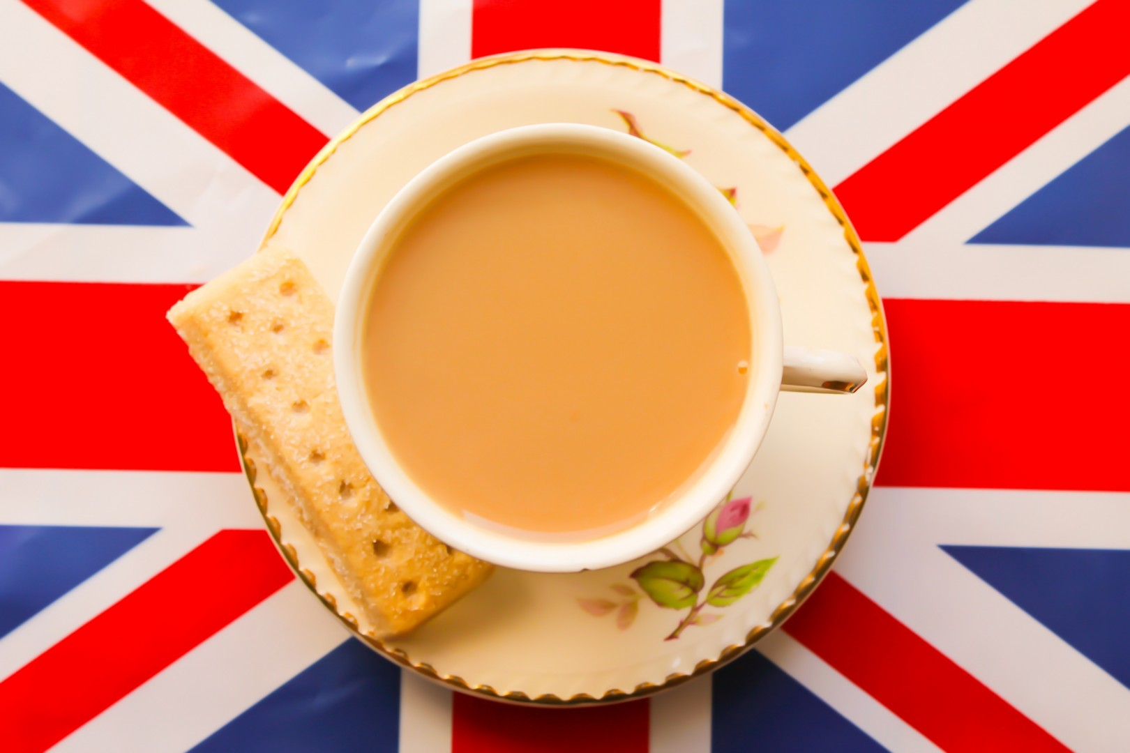 Patriotic Cup of Tea and Short Bread British