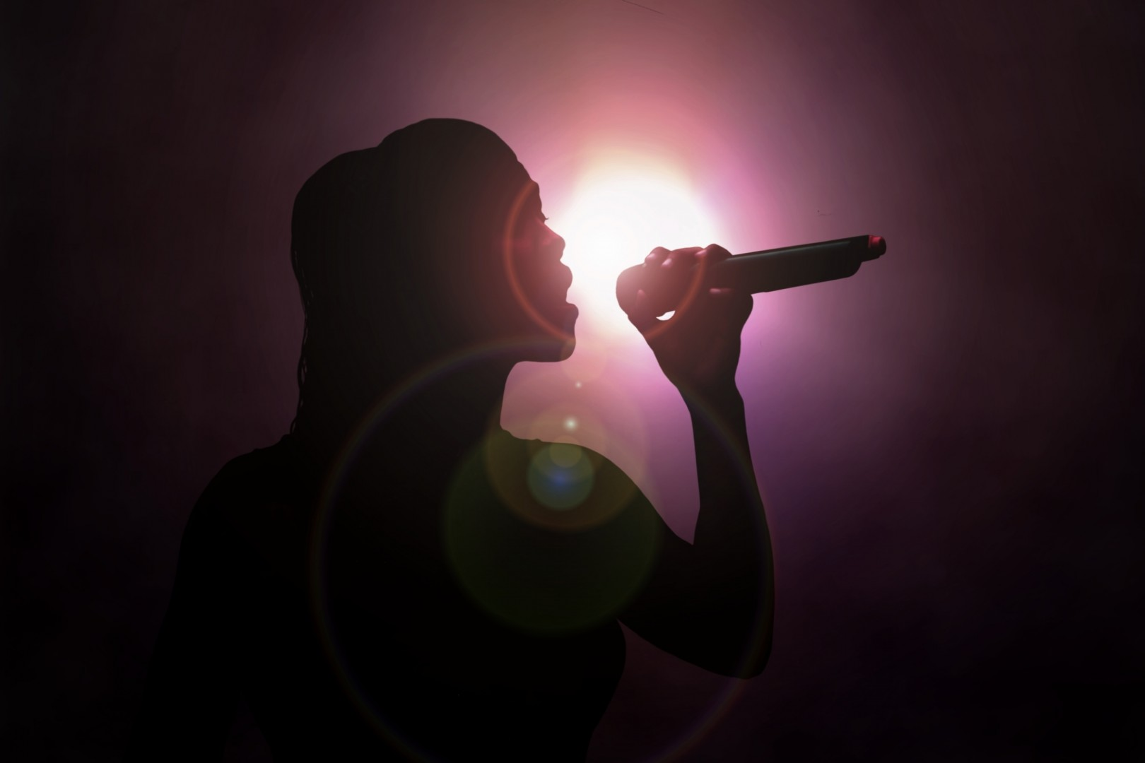Alexandra Burke Woman Sings Under Spotlight