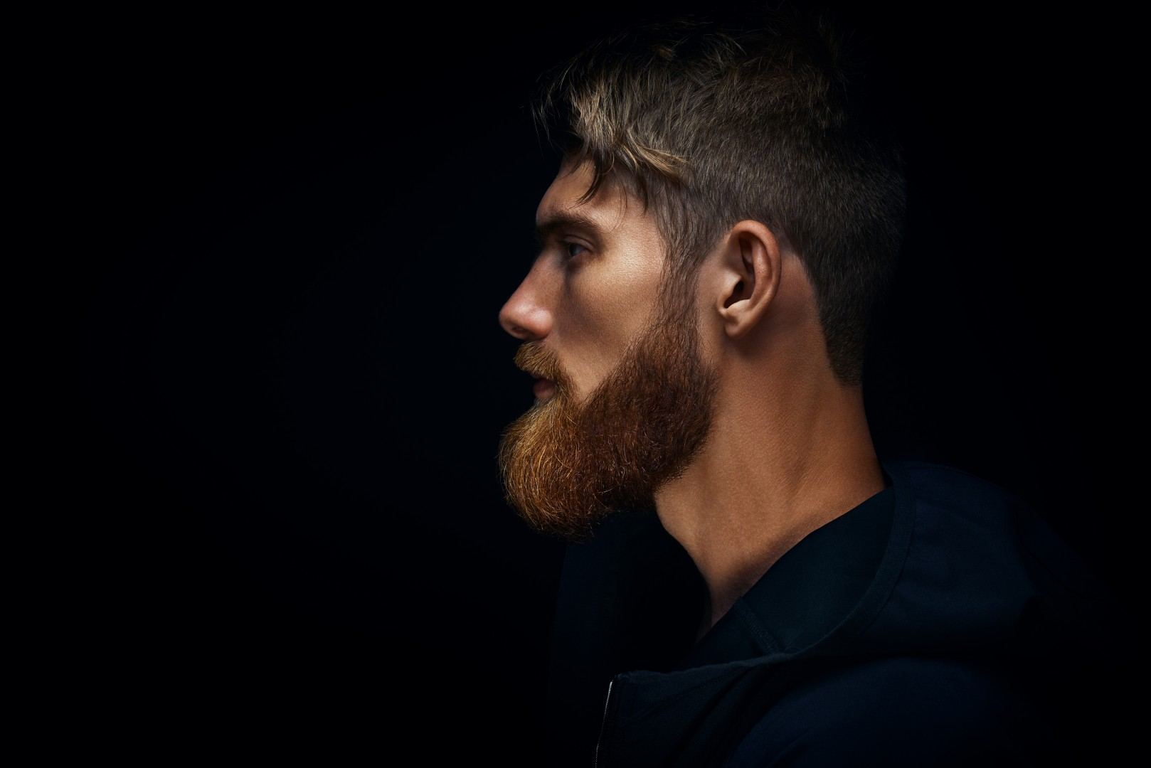 The Big Bang June Side Profile of Bearded Man