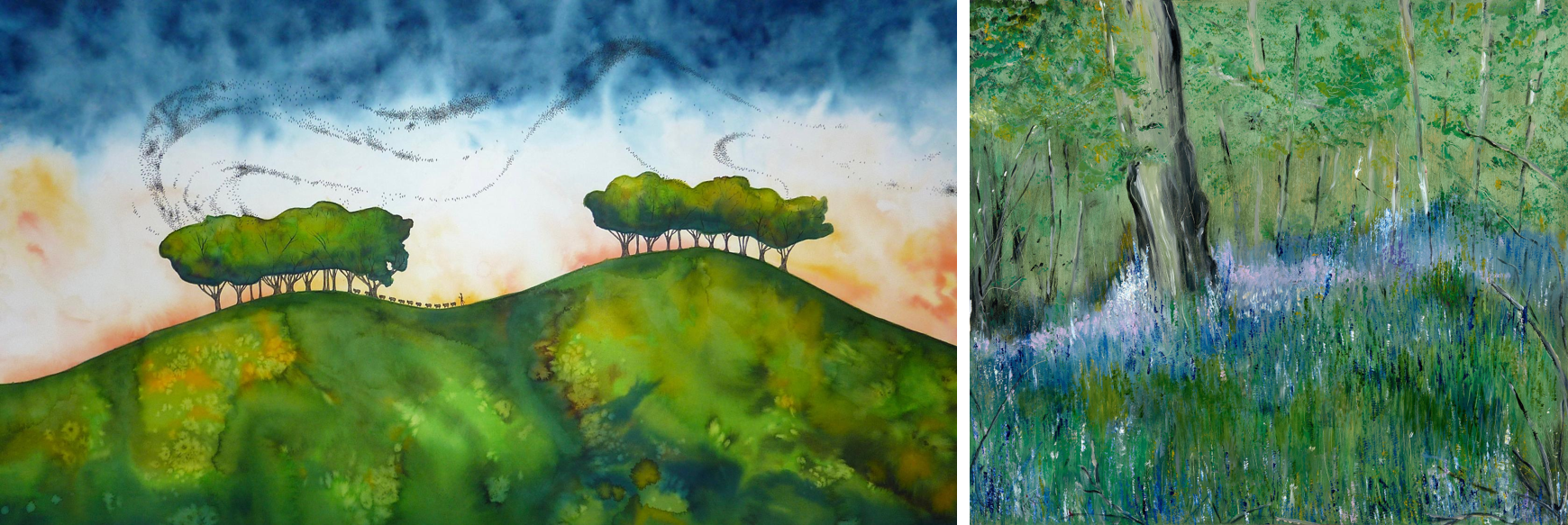 The Lyrics of the Landscape Sue Side and Maureen Gillespie Artwork
