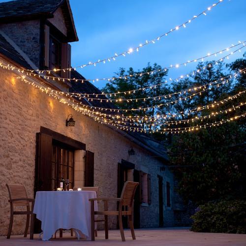Lights4fun Outdoor LED Warm White Fairy Lights Summer Patio