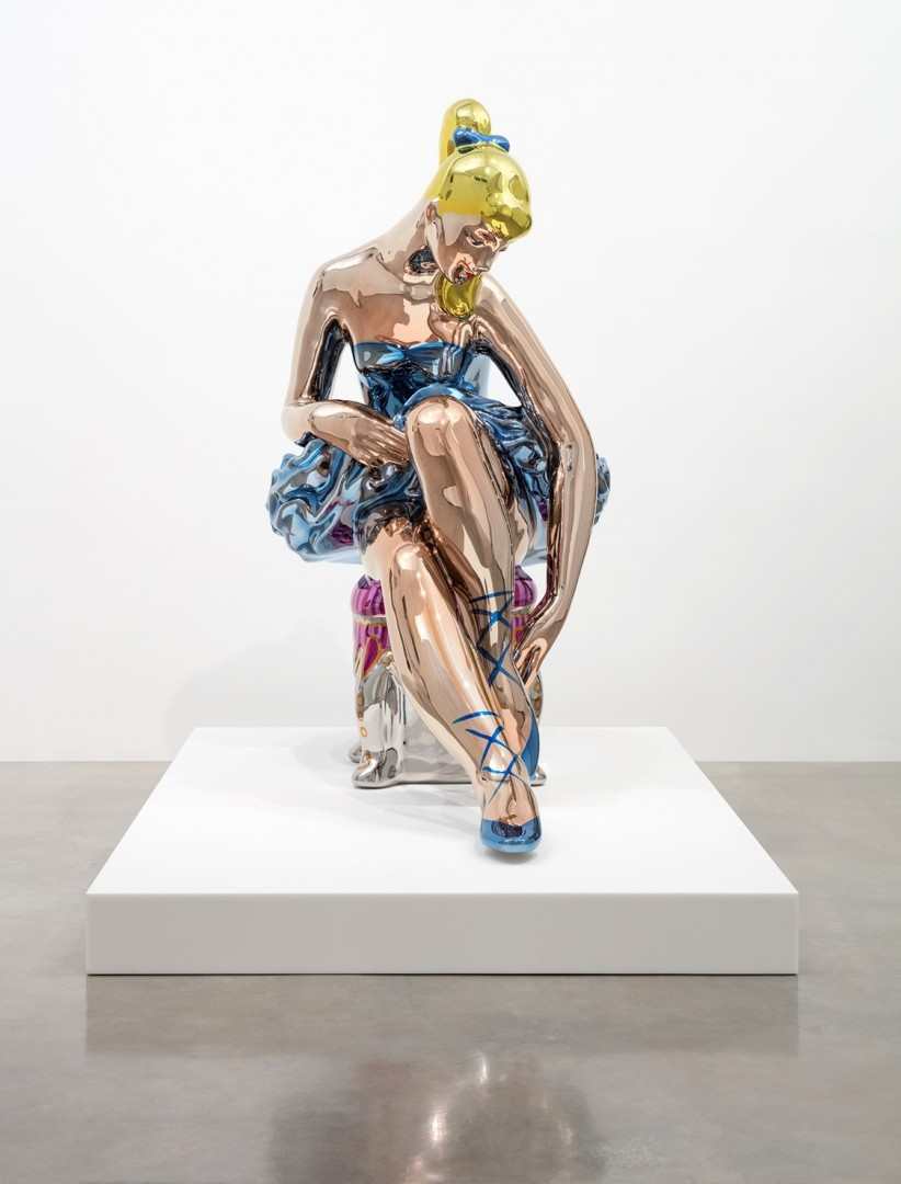 Detail of Ballerina Jeff Koons