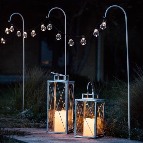lights4fun St Austell Outdoor Battery Candle Lantern