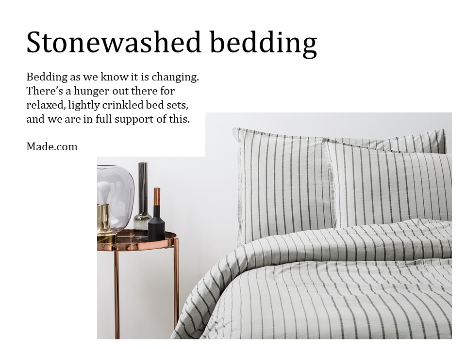New Year Updates Stonewashed Bedding Made.com
