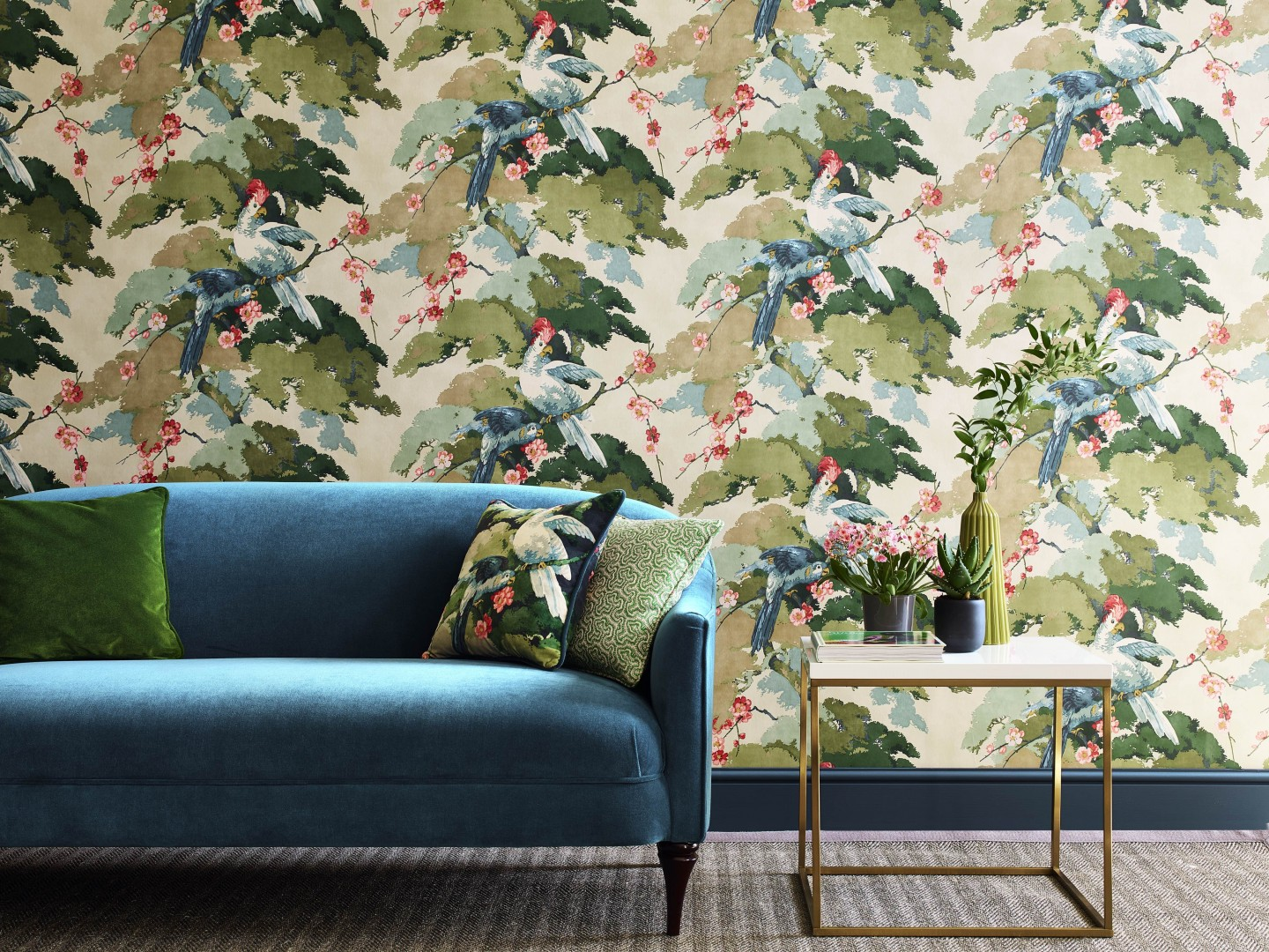 House Doctor June Linwood Tango Wallpaper Jungle JIve