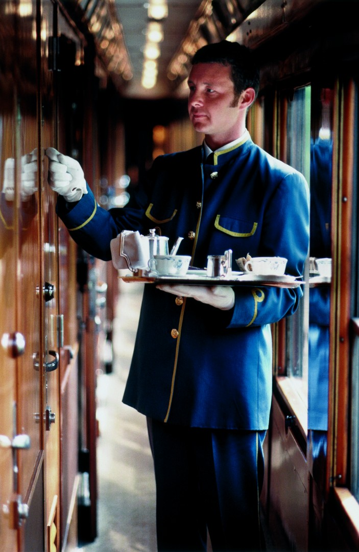 Great Train Journeys of the World Venice Simplon Orient Express Lieried Steward
