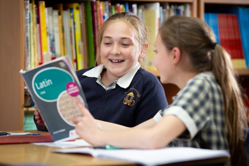 Beachborough  pupils learning latin