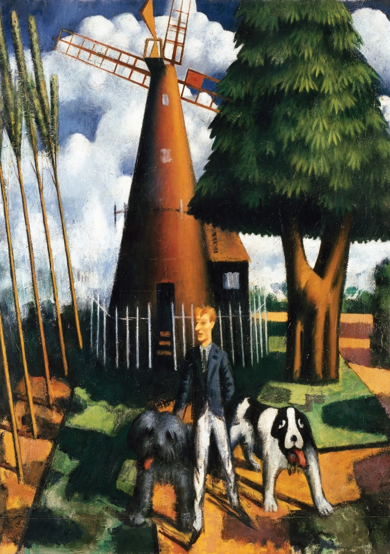 GILBERT CANNAN AND HIS MILL Mark Gertler 1916