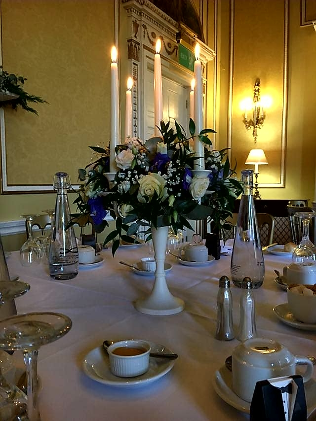 Donnington Grove Country Club Weddings dressed table centre piece
